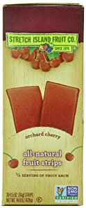 Stretch Island Original Fruit Leather, Orchard Cherry, 0.5-Ounce Bars (Pack of 30)