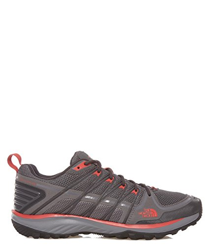 The North Face Men's Litewave Explore Hiking Shoe,Zinc Grey/Pompeian Red,US 12 M