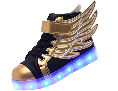 ERUPTWORLD-Wings-Kid-Boy-Girl-Upgraded-USB-Charging-LED-Light-Sport-High-Top-Shoes-Flashing-Sneakers