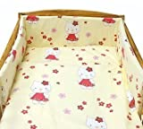 BABY TODDLER JUNIOR BED COT BUMPER 35cm x 150cm 138 x 59 Cream Kitty