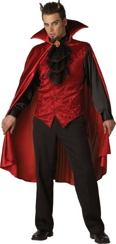 InCharacter Costumes, LLC Men's Dashing Devil Costume, Red/Black, Large (Black Devil Costume compare prices)