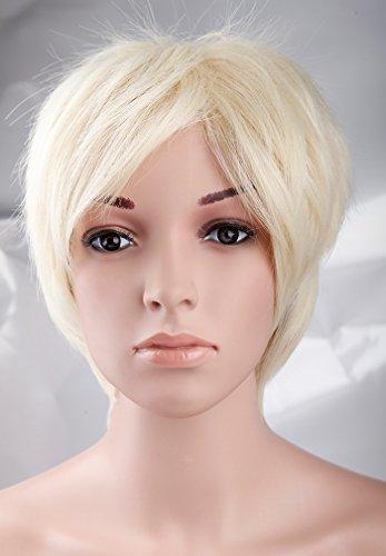 S-noilite Fashionable Short Wig Bleach Blonde