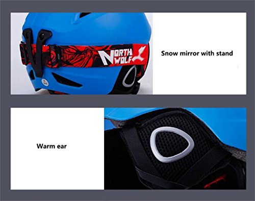 Rainbow flower Double plate snowboarding helmet adult men and women outdoor light helmet protective gear sports equipment