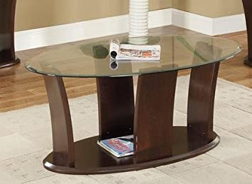 Tempered Glass Top Coffee Table by Poundex