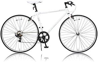 CANOVER(カノーバー) 700×28C 折りたたみクロスバイク シマノ7段変速 フロントライト標準装備 工具付属 CAFC-036 PSYCHE(プシュケ) ホワイト 25590