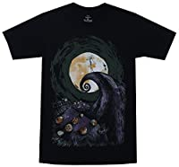 Mighty Fine Nightmare Before Christmas Cover Mens Black Shirt