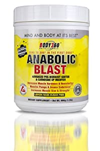Anabolic Blast Pre-Workout Igniter, Lemon Rage, 1.3 Pound