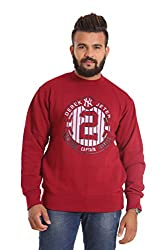 Round Neck - Maroon SWEATSHIRT for men by COLORS & BLENDS