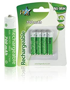 HQ HQ-NIMH-AAA-01 accu rechargeable Vert, Blanc