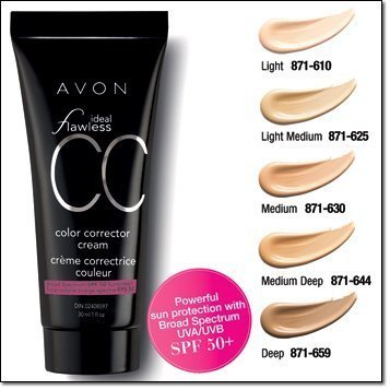 Avon Ideal Flawless Color Corrector Cream CC Cream (Medium) by