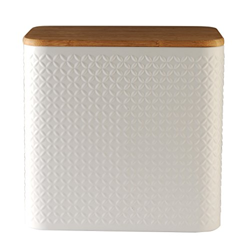 Typhoon Diamond Embossed Bread Box, 11-3/4 By 11-3/4 By 8-1/4 Inches