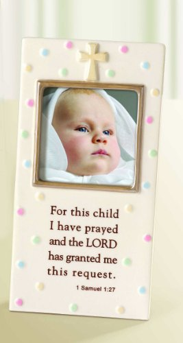 Stoneware Baby Photo Frame For This Child 7x4 From Grasslands