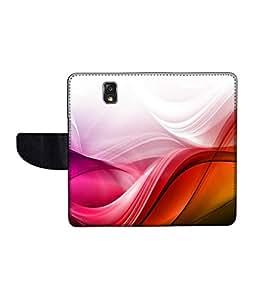 KolorEdge Printed Flip Cover For Samsung Galaxy Note 3 Neo Multicolor - (55KeMLogo12017SamN750)