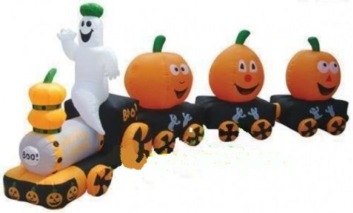 Christmas Inflatable Train front-963500