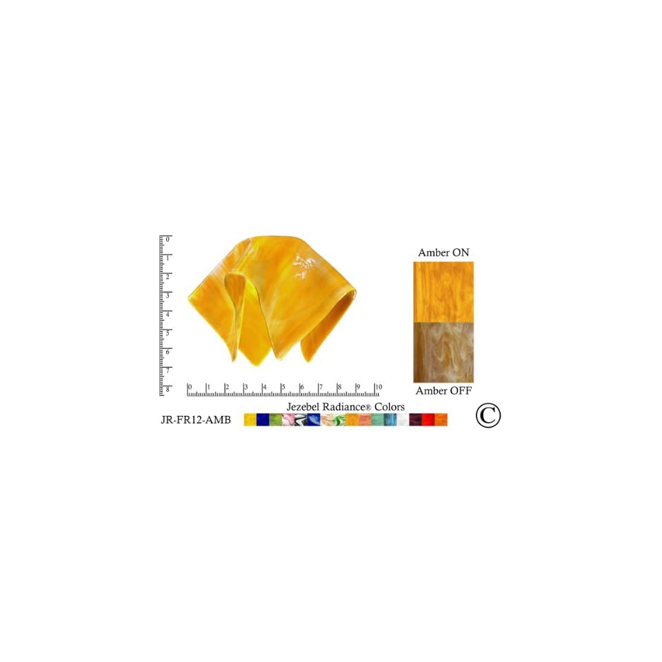 Jezebel Radiance® Small Flame Amber Gold Yellow Glass Pendant/Ceiling
