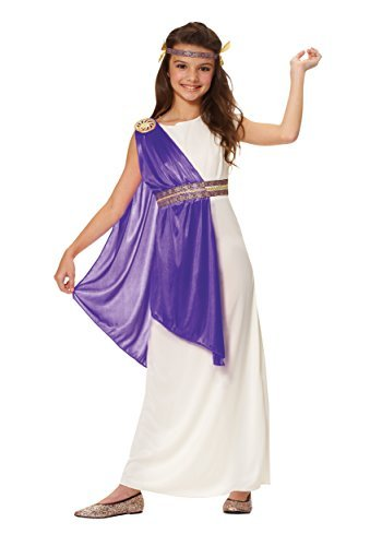 Big Girls' Purple Roman Empress Costume
