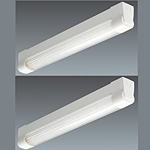 Thorn External Wall Lights : 2x Thorn Light Fitting Low Energy Ceiling Wall Light Fluorescent, Luminaire Batten HF c/w TC-L ...