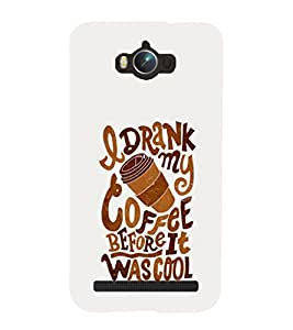 Coffee Drinking 3D Hard Polycarbonate Designer Back Case Cover for Asus Zenfone Max ZC550KL :: Asus Zenfone Max ZC550KL 2016 :: Asus Zenfone Max ZC550KL 6A076IN