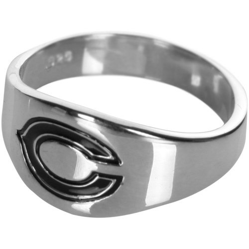 Logoart Chicago Bears Men's Sterling Silver Cigar Ring Size: 12