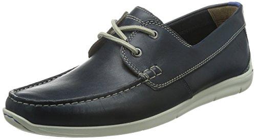 ClarksKarlock Step - Scarpe da Barca Uomo , Blu (Blau (Navy Leather)), 46