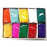 Festival Colors (Rangoli) Holi High Quality Colors, 50 Gram Packets (Pack of 10)
