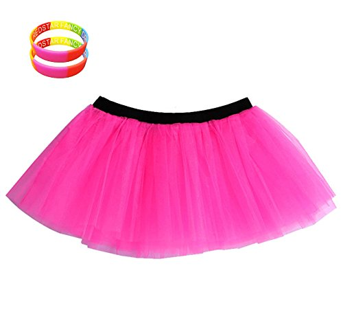 REDSTAR FANCY DRESS® Neon Tutu Skirt + 2x FREE
