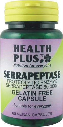 Health Plus Serrapeptase Anti-Inflammatory Enzyme Supplement (60 Capsules)