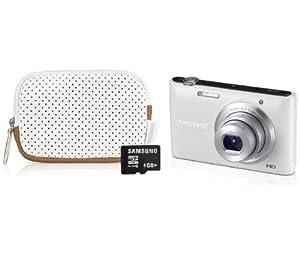 SAMSUNG ST72 weiß - Digitalkamera + Etui + microSD-Speicherkarte 4 GB + 2 JAHRE GARANTIE
