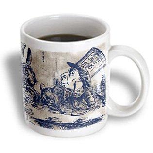 3Drose Mug_110204_2 Mad Hatter Vintage Alice In Wonderland Tea Party Ceramic Mug, 15-Ounce