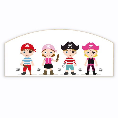New Elegant Half-Round Wardrobe Maple with motive: Pirate Kids