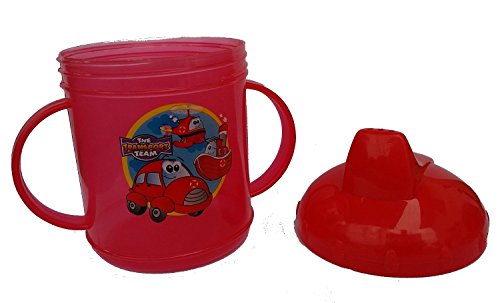 Toddler Sippy Cup, Two Handles, Red, 8.5 Ounce - 1