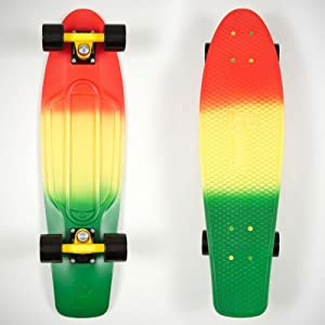 Penny Nickel Skateboard prémonté rouge Rasta Fade Length:27 Inches Length:27-Inches