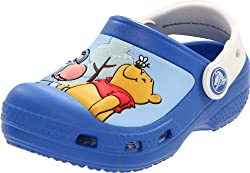 Crocs Winnie The Pooh Eeyore Sea Blue And Oyster Clogs 1.5 UK Junior