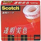 [3M 1162097] スコッチ 透明粘着テープ 透明美色 小巻 12.7mm×20m 箱入