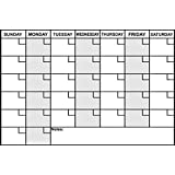 """Refrigerator Calendar Magnet 15"""" x 11"""" - fridge - dry erase white board - message board is perfect for an on the go person - write and wipe plans"""
