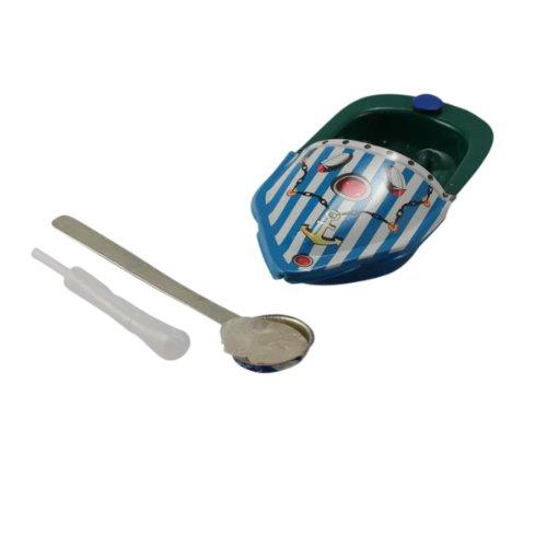 """Superfreak® Blechboot°Blechspielzeug°Knatterboot """"Boot Mini Litho"""" 06, Farbe: blau/petrol/weiß"""
