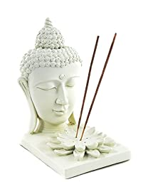 Meditating Buddha Incense Stick Holder and Incense Burner and T Light Candle Holders