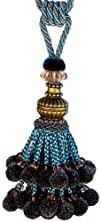 Xia Home Fashions Artisan Ball Tassels Blue
