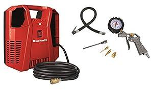 Einhell THAC 190 Kit Kompressor, 1,1 kW, Ansaugleistung 190 l/min, 8 bar, 1 Zylinder, inklusive umfangreiches Zubehör, ölfrei, 4020536  BaumarktKundenbewertung und Beschreibung