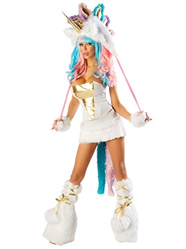 [Sexy Unicorn Corset & Skirt Costume Adult] (J Valentine Unicorn Costume)