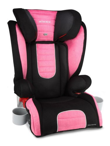 booster car child seat diono monterey booster seat pink car child seats. Black Bedroom Furniture Sets. Home Design Ideas