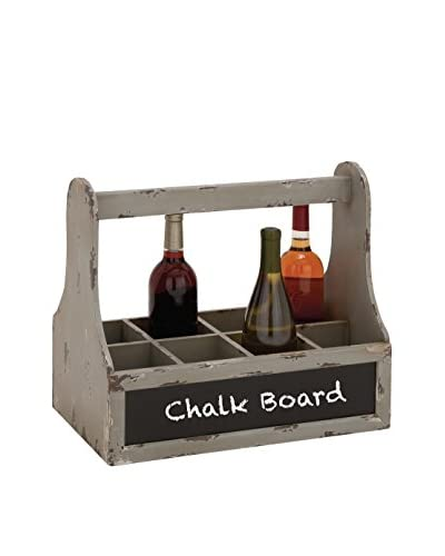 Wood Wine Basket W/ Chalk Board