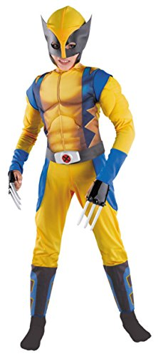 Boys Wolverine Classic Muscle Kids Child Fancy Dress Party Halloween Costume