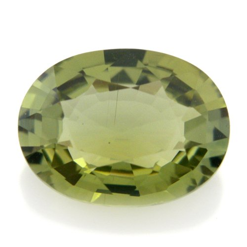 Natural Africa Green Tourmaline Loose Gemstone Oval Cut 9*6mm 1.65cts SI Grade
