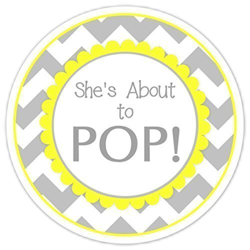 36-baby-shower-about-to-pop-labels-shes-about-to-pop-stickers-gray-chevron-and-yellow-baby-shower-la
