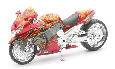 New Ray Toys Street Bike 1:12 Scale Motorcycle Roaring Toyz Cutom ZX-14 43453
