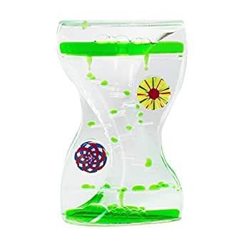 Colorful Liquid Motion Bubbler Desk Sensory Toy Timer Zig