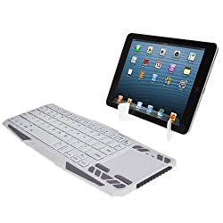 SUPERNIGHT Portable Wireless Bluetooth Keyboard Handheld with Rechargeable Lithium Battery for Bluetooth Enabled Devices - Android 3.0 + Tablets / Mac OS / Windows / Google Nexus 7 / Google Android TV Box / Apple iPhone 4 4S 3GS 3G / iPad 2 3 4 5 / iPad Mini / Samsung Galaxy S4 S2 S3 Note Tab, PS3 & HTPC/IPTV HTPC (Bluetooth HID).Color:White