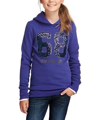 Esprit - sweat-shirt  capuche - fille - Violet - FR : 10 ans (Taille fabricant : S)