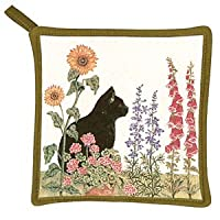 Meadow Cat in Flowers - Kitchen Potholder